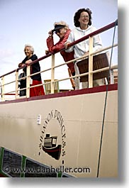 boats, europe, girls, goils, ireland, irish, people, river barge, shannon princess, shannon princess ii, vertical, water vessel, photograph