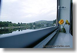 boats, europe, flowers, horizontal, ireland, irish, river barge, rooms, shannon princess, shannon princess ii, slow exposure, water vessel, windows, photograph