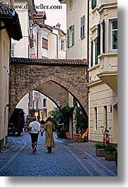 alleys arches, arches, bolzano, dolomites, europe, italy, vertical, photograph
