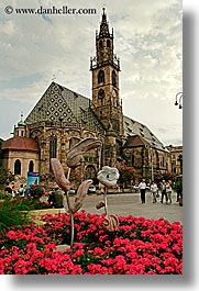 bolzano, buildings, churches, dolomites, europe, gothic, italy, vertical, photograph