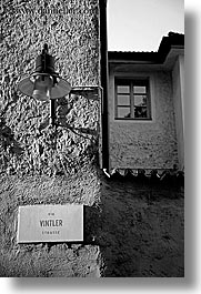 black and white, bolzano, dolomites, europe, italy, lamp posts, vertical, photograph