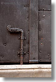 bolzano, dolomites, doors, europe, italy, locks, metal, vertical, photograph