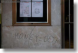 bolzano, dolomites, europe, graffiti, horizontal, italy, money, photograph