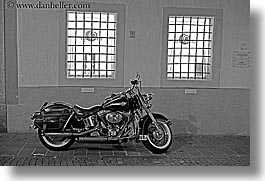 black and white, bolzano, dolomites, europe, horizontal, italy, motorcycles, slow exposure, photograph