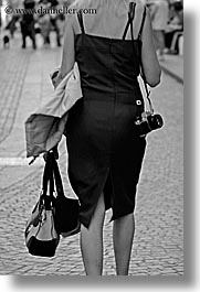 black and white, bolzano, dolomites, europe, italy, people, photographers, vertical, womens, photograph