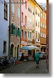 bolzano, dolomites, europe, italy, pedestrians, streets, vertical, photograph