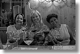 alto adige, black and white, cortina group, dolomites, europe, horizontal, italy, sally radke, toasting, womens, photograph