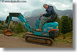 alto adige, cortina group, dans, dolomites, europe, horizontal, italy, tractor, photograph