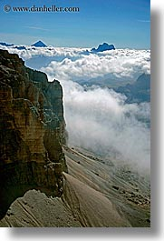 alto adige, clouds, dolomites, europe, italy, latemar, rim, vertical, photograph