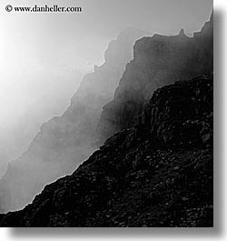 alto adige, black and white, dolomites, europe, italy, layered, layered mountains, mountains, square format, photograph