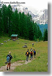 alto adige, dolomites, europe, hikers, italy, mountains, tofane, vertical, photograph