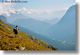 alto adige, dolomites, europe, hikers, horizontal, italy, mountains, val  ansiei, val ansiei, photograph