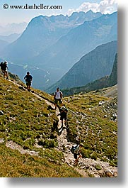alto adige, dolomites, europe, hikers, italy, mountains, val  ansiei, val ansiei, vertical, photograph