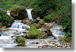 alto adige, babbling, brook, dolomites, europe, horizontal, italy, nature, slow exposure, photograph