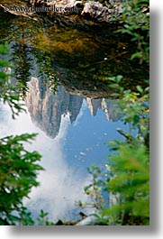 alto adige, dolomites, europe, italy, mountains, nature, reflections, vertical, photograph