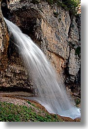 alto adige, dolomites, europe, italy, nature, vertical, waterfalls, photograph