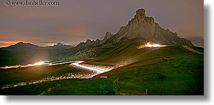 alto adige, dolomites, europe, giau, gusela mountain, horizontal, italy, long exposure, nite, panoramic, pass, passo giau, photograph
