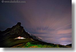alto adige, dolomites, europe, giau, gusela mountain, horizontal, italy, long exposure, nite, pass, passo giau, photograph