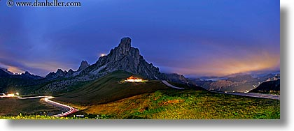 alto adige, dolomites, europe, fisheye lens, giau, gusela mountain, horizontal, italy, long exposure, nite, panoramic, pass, passo giau, photograph