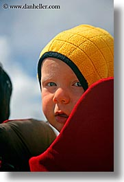 alto adige, babies, childrens, dolomites, europe, hood, italy, people, vertical, yellow, photograph