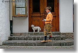 alto adige, boys, childrens, dogs, dolomites, europe, horizontal, italy, people, photograph
