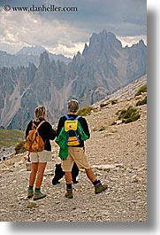 alto adige, couples, dolomites, europe, italy, men, mountains, people, vertical, viewing, photograph