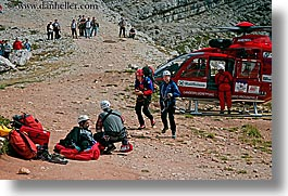 alto adige, dolomites, europe, help, hikers, horizontal, injured, italy, men, people, photograph