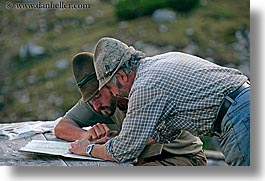alto adige, dolomites, europe, horizontal, italy, ladin, map, men, people, reading, photograph