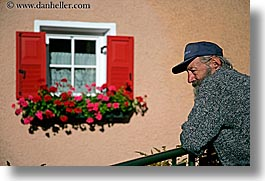 alto adige, dolomites, europe, horizontal, italy, men, people, windows, photograph