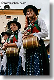 alto adige, barrels, dolomites, europe, girls, italy, people, vertical, womens, photograph