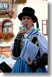 alto adige, dolomites, emcee, europe, italy, people, tophat, vertical, womens, photograph