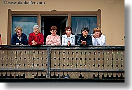 alto adige, balconies, dolomites, europe, horizontal, italy, people, womens, photograph