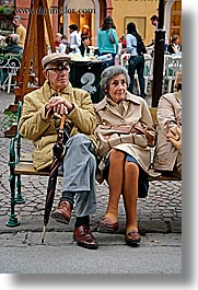 alto adige, couples, dolomites, elderly, europe, italy, people, vertical, photograph