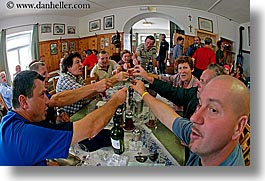 alto adige, dolomites, drinkers, europe, fisheye lens, german, horizontal, italy, people, photograph