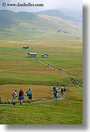 alto adige, dolomites, europe, hikers, hiking, italy, rosengarten, scenics, vertical, photograph