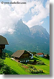alto adige, dolomites, europe, italy, rosengarten, valley, vertical, photograph