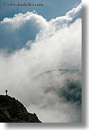 alto adige, clouds, dolomites, europe, hikers, italy, mountains, silhouettes, vertical, photograph