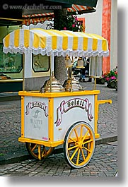alto adige, dolomites, europe, ice cream, italy, machines, st ulrich, vertical, photograph