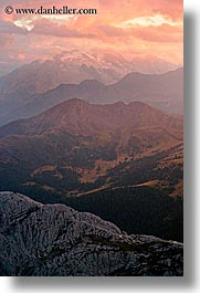 alto adige, dolomites, europe, italy, sunsets, vertical, photograph