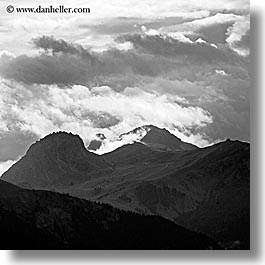 alto adige, black and white, dolomites, europe, gardena, italy, square format, trails, val gardena, valley, photograph