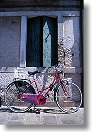 bicycles, europe, italy, po river valley, valley, vertical, photograph