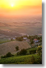 countryside, europe, italy, po river valley, sunsets, valley, vertical, photograph