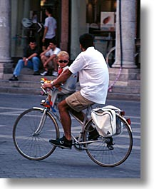 biking, europe, fathers, italy, people, po river valley, sons, valley, vertical, photograph