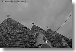 alberobello, buildings, europe, horizontal, italy, puglia, rooftops, structures, trullis, photograph
