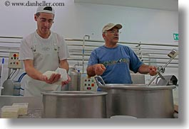 alberobello, cheese, cheese making, europe, horizontal, italy, making, men, mozzarella, puglia, photograph