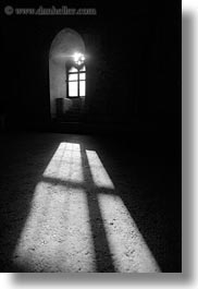 andria, beaming, black and white, castel del monte, europe, italy, puglia, sun, vertical, windows, photograph