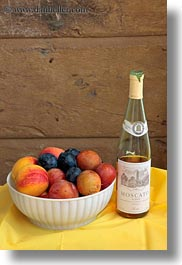 alcohol, bowls, europe, foods, fruits, italy, moscato, puglia, vertical, white, wines, photograph