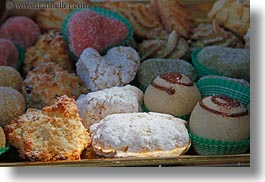 colorful, cookies, desserts, europe, foods, horizontal, italy, puglia, sweets, photograph