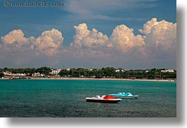 boats, clouds, cumulus, europe, gallipoli, harbor, horizontal, italy, puglia, photograph