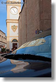 clock tower, europe, gallipoli, italy, puglia, reflections, vertical, photograph